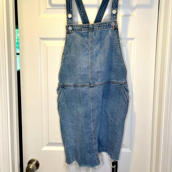 NWT BLANKNYC denim overall skirt size 30